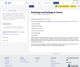 Greetings and Partings in France