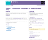 Hour of Code 2.1:  Programming Unplugged: My Robotic Friends Relay