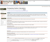 Comparing Carbon Calculators