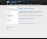 Amherst County Public Schools Road Map to Return
