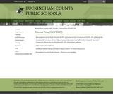 Buckingham County Public Schools COVID-19 page