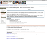 Environmental impacts of oil production in Alaska