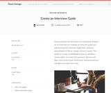Teach Design: How to Create an Interview Guide