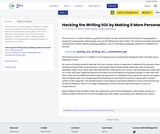 Hacking the Writing SOL by Making it More Personal