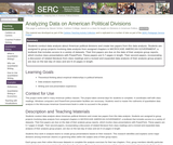 Analyzing Data on American Political Divisions