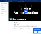 Calculus - Limits: Limits