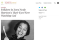 Folklore in Zora Neale Hurston's Their Eyes Were Watching God