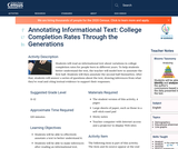 Annotating Informational Text: College Completion Rates Through the Generations