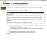 Analyzing pH: Comparing Citrus Fruits, Stain Removers and a Green Product