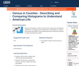 Census in Counties - Describing and Comparing Histograms to Understand American Life
