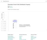 Geometric Proof of the Distributive Property – GeoGebra