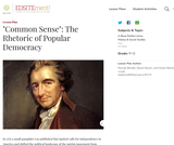 Common Sense: The Rhetoric of Popular Democracy