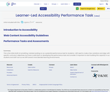 Learner-Led Accessibility Performance Task