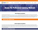 Access the Professional Learning Materials