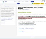 Identify Characteristics and Uses of Common Minerals