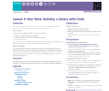 Hour of Code 1.5: Star Wars: Building a Galaxy with Code