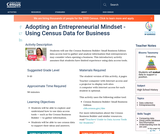 Adopting an Entrepreneurial Mindset - Using Census Data for Business