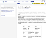 Media Literacy Curation