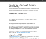Preparing your school's Apple devices for remote learning