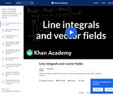 Calculus - Line Integrals and Green's Theorem: Line Integrals In Vector Fields