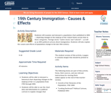 19th Century Immigration - Causes & Effects
