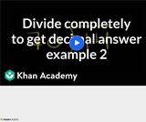 Arithmetic Operations: Dividing Decimals 2