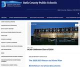 Bath County Public Schools Main web page