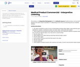 Medical Product Commercial - Interpretive Listening