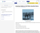 American Indians on the Plains: Question Stems