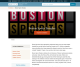 The Boston Sports Temples