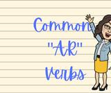 """Common """"AR"""" Verbs List & Activity"""