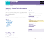 Hour of Code 2.4: Dance Party: Unplugged