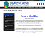 Brunswick County Public Schools Return to Schools plan