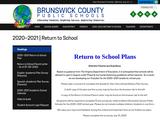 Brunswick County Public Schools Return to Schools plan