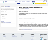 Remix: Beginners' French: Food and Drink