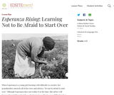 Esperanza Rising: Learning Not to Be Afraid to Start Over