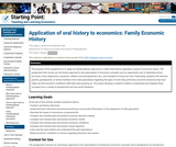 Application of oral history to economics: Family Economic History