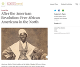 After the American Revolution: Free African Americans in the North