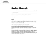 2.OA, NBT Saving Money 2