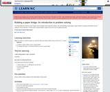 Building A Paper Bridge: An Introduction to Problem Solving