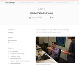 Teach Design : Facilitating Validation of Your Students' Prototype