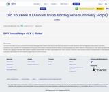 Did You Feel It (Annual USGS Earthquake Summary Maps)