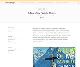 Teach Design: A Few of my Favorite Things