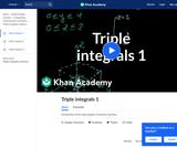 Calculus - Double and Triple Integrals: Triple Integrals