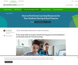From using video to project-based learning, get recommendations on the best tools for virtual learning.