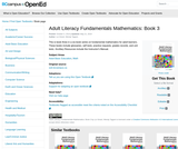 Adult Literacy Fundamentals Mathematics: Book 3
