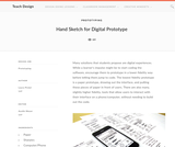 Teach Design: Hand Sketch for Digital Prototype