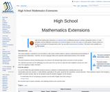 High School Mathematics Extensions