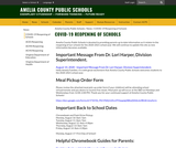 Amelia County COVID-19 Reopening of Schools