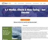 6.3 Weather, Climate & Water Cycling - Unit Overview